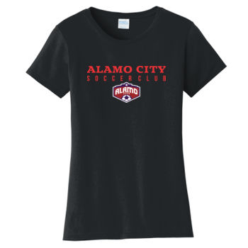 Alamo City SC Red w/ Crest - Ladies Fan Favorite Tee Thumbnail
