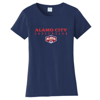 Alamo City SC (Red Print With Crest) - Ladies Fan Favorite Tee Thumbnail