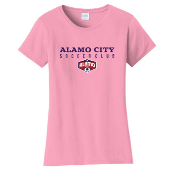 Alamo City SC (Navy Print With Crest) - Ladies Fan Favorite Tee Thumbnail