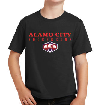 Alamo City SC (Red Print With Crest) - Youth Fan Favorite Tee Thumbnail