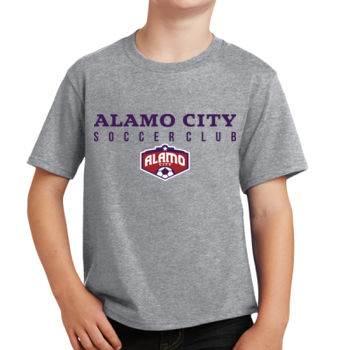 Alamo City SC (Navy Print With Crest) - Youth Fan Favorite Tee Thumbnail