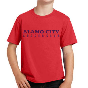 Alamo City SC (Navy Print) - Youth Fan Favorite Tee Thumbnail