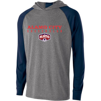 Alamo City SC (Red Print With Crest) - Holloway Adult Echo Hoodie Thumbnail