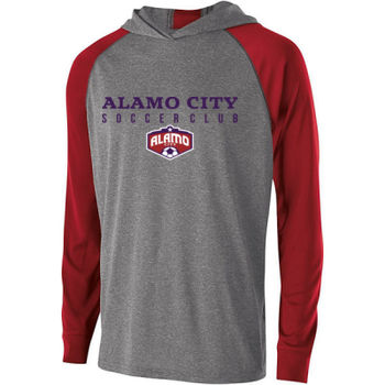 Alamo City SC (Navy Print With Crest) - Holloway Adult Echo Hoodie Thumbnail