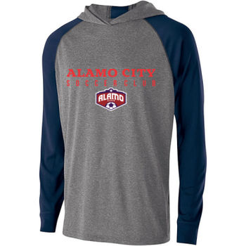 Alamo City SC (Red Print With Crest) - Holloway Youth Echo Hoodie Thumbnail