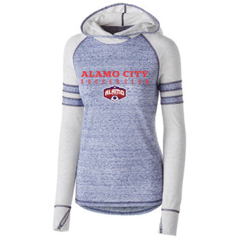Alamo City SC (Red Print With Crest)- Holloway Girls Advocate Hoodie Thumbnail