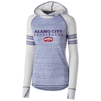 Alamo City SC (Navy Print With Crest)- Holloway Girls Advocate Hoodie Thumbnail
