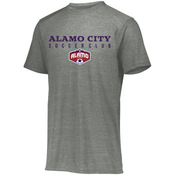 Alamo City SC (Navy Print With Crest) - Youth Tri-Blend T-Shirt Thumbnail