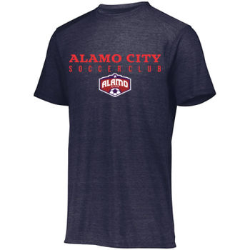 Alamo City SC (Red Print With Crest) - Tri-Blend T-Shirt Thumbnail