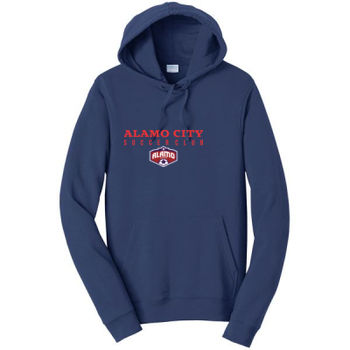 Alamo City SC (Red Print With Crest) - Adult Fleece Hoodie Thumbnail