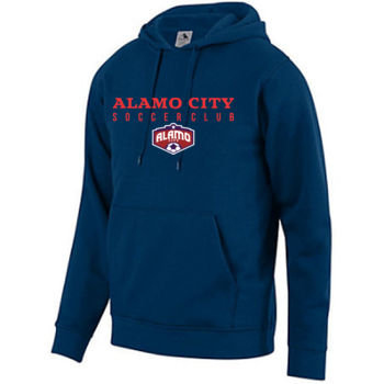 Alamo City SC (Red Print With Crest) - Youth Fleece Hoodie Thumbnail
