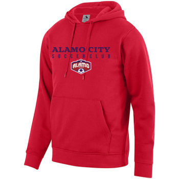 Alamo City SC (Navy Print With Crest) - Youth Fleece Hoodie Thumbnail