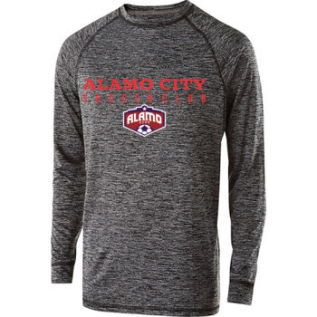 Alamo City SC (Red Print With Crest) - Youth Holloway Electrify 2.0 Shirt Long Sleeve Thumbnail