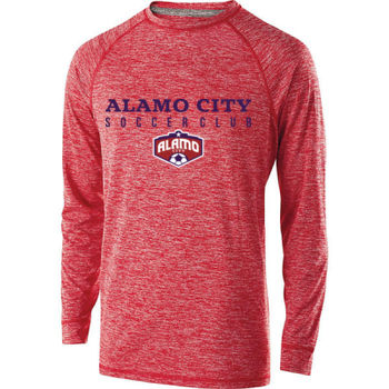 Alamo City SC (Navy Print With Crest) - Youth Holloway Electrify 2.0 Shirt Long Sleeve Thumbnail