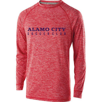 Alamo City SC (Navy Print) - Youth Holloway Electrify 2.0 Shirt Long Sleeve Thumbnail