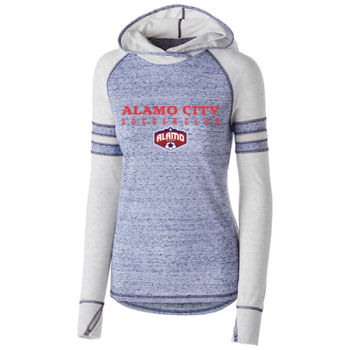 Alamo City SC (Red Print With Crest) - Holloway Ladies Advocate Hoodie Thumbnail